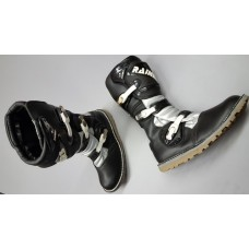 Rainers Trials Boots Black and Silver